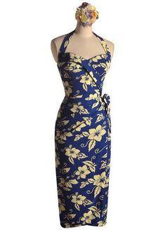 915d04213e53b Cobalt & Vanilla Shaheen Dream with Matching Fan. Vintage Tea Length  DressTea ...