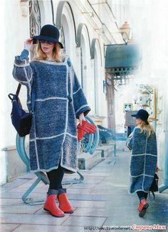 . Пальто спицами. Модель Светланы Волкодав