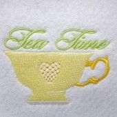 I found this Embroidery Design for only: $0.00 on aStitchaHalf.com! Tea Time Cup is one of the most important utensils in the kitchen. And this colorful embroidered cup of tea can be used to brighten up your apron, t-shirt, even kitchen cloths.You get:1 x 4*4 design