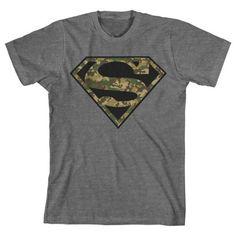 Superman Camo Logo Men's Grey T-Shirt, http://www.amazon.com/dp/B00D09LUIY/ref=cm_sw_r_pi_awdm_6T.Cub1ANBRX9