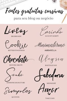 Ultimate Handwriting Free Fonts for your Wedding Invitations Blog Fonts, Free Font Design, Letra Script, Letras Cool, Aesthetic Fonts, Aesthetic Letters, Photoshop, Handwriting Fonts, Typography Fonts