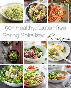 50+ Healthy, Gluten Free Spiralized Recipes - A collection of a ton of the best spiralized recipes that taste great and are great for you! | Foodfaithfitness.com | @FoodFaithFit