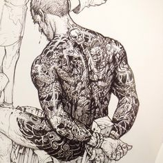 Master Kim's drawings are satiated with the most intricate and delicate of details.