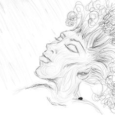 Another dryad. Day 7 liking the dryads and the sketchy ink need to refine it more. #inktober #inktober2017 #photoshop #astropadapp #dryad