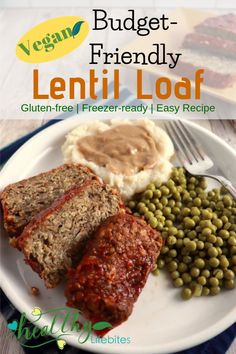 You won�t miss the meat in this vegan lentil loaf! Made with a savory combination of lentils, mushrooms, and oats it�s a hit with busy families that need tasty meals on a budget. #easy #budget #vegan #recipe
