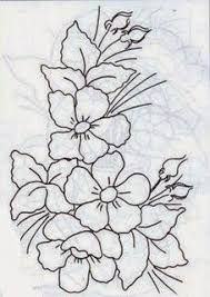 pattern number and company unk Floral Embroidery Patterns, Silk Ribbon Embroidery, Hand Embroidery Designs, Embroidery Stitches, Fabric Painting On Clothes, Silk Painting, Line Art Images, Fabric Paint Designs, Painting Patterns