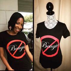 Black Not Bougie Shirt Black Not Bougie Shirt Tops Tees - Short Sleeve