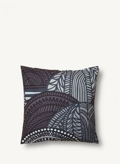 This square pillow sham features Sanna Annukka's large-scale Vuorilaakso print. It's made of heavyweight cotton and has a side zip closure.