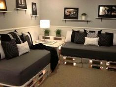 Cute idea for a twins room or a nice living room