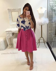 Nati Girly Outfits, Modest Outfits, Skirt Outfits, Dress Skirt, Cute Outfits, Pink Fashion, Modest Fashion, Fashion Looks, Fashion Outfits