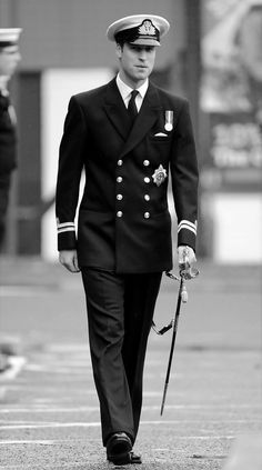 Prince William in his naval uniform.