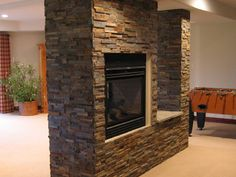 """""""Outback Brown"""" stone veneer by ErthCoverings. Similar to """"Volcano"""" by Impex Stone"""