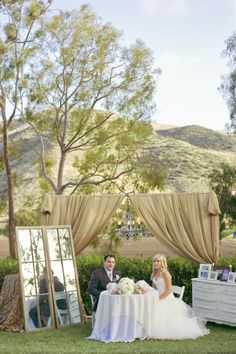 Example of fabric drape with chandelier for sweetheart table Chic Wedding, Wedding Trends, Wedding Bride, Our Wedding, Dream Wedding, Wedding Draping, Wedding Ideas, Wedding Vintage, Lake Tahoe Weddings