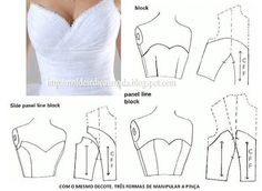 Enchanting Sewing Patterns Clone Your Clothes Ideas Sewing Dress, Dress Sewing Patterns, Diy Dress, Sewing Clothes, Clothing Patterns, Motif Corset, Corset Pattern, Top Pattern, Dress Tutorials