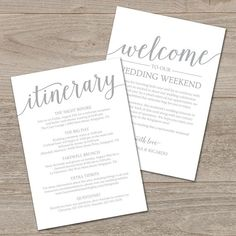 Wedding itinerary template printable wedding welcome letter welcome bag note wedding itinerary template by mycrayons design thecheapjerseys Image collections
