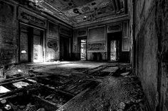 dining room / abandoned hotel by halopes76, via Flickr