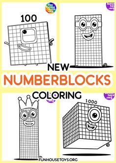 Have some fun with our collection of numberblocks printables. Find Printable Coloring Pages from Numberblocks here. Fun Printables For Kids, Preschool Printables, Preschool Worksheets, Cars Coloring Pages, Coloring Pages For Kids, Kids Background, Pre K Activities, Learn To Count, 100 Fun