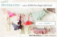 PINTIMATES - Enter to win a Free People Gift Card! Ends 8/31!