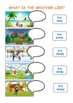 English Worksheets For Kids, English Lessons For Kids, English Class, Weather Worksheets, Kindergarten Math Worksheets, Esl, Weather Like Today, Weather Song, Weather Calendar