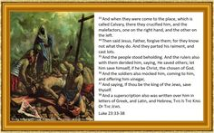 Luke 23:33-38 King James Bible - painting 'Jesus is Nailed to the Cross' by Ben Stahi - The Stations of the Cross (1954)