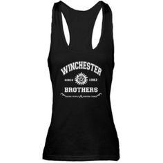 SUPERNATURAL Winchester Brothers white Racerback T