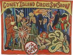 Coney Island freak show by Marie Roberts