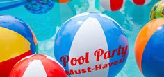 When planning a #poolparty, whether it's for adults or kids, there are some must-haves and fun ideas to make it a success. #eventplanning