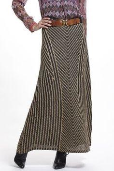 Zarita Gilt Maxi Skirt
