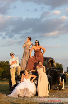 #bride and #bridesmaids at Starlight Meadow. To see more pictures go to www.carolinezphotography.com
