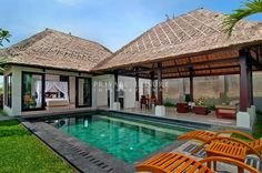 Santi Mandala Villa and Spa built in the hill of Ubud with one bedroom accommodation for honeymooners with Tanaraga Giri Lake, rice fields or tropical greenery view.