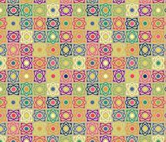 Geek atomic floral fabric by dinorahdesign on Spoonflower - custom fabric