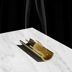 This gorgeous brass incense holder is a functional objet d'art—and a totally romantic way to set the mood with an air-cleansing, subtly gorgeous incense (we. Keramik Design, Incense Holder, Incense Sticks, Incense Burner, Diy Wood Projects, Design Blogs, Paper Gifts, Decorative Objects, Candles