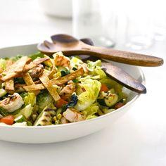 Giada's grilled California-style chopped salad with shrimp http://www.foodnetwork.com/recipes/giada-de-laurentiis/california-style-chopped-salad-with-shrimp-recipe/index.html