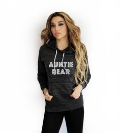 Auntie Bear Hoodie Style and comfort are the perfect words to describe this unbelievably cute hoodie. The light knit gives it an incredibly soft hand that drapes beautifully. It can't miss for any sea