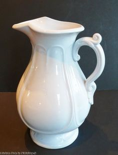 Mid 1800s English J. Furnival white ironstone pitcher!!! 11 in tall. Beautiful water pitcher!!!