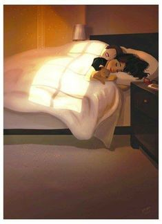 Lazy Sunday Morning, an art print by Yaoyao Ma Van As Illustration Mode, Couple Illustration, Cute Couple Art, Cute Couples, Calin Couple, Lazy Sunday Morning, Cute Love, Love Art, Dog Mom