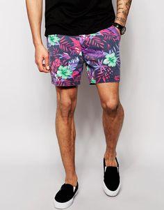 ASOS   ASOS Chino Shorts In Slim Fit Shorter Length at ASOS
