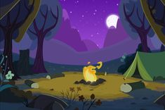 MLP Camping Background by Scootaloo24.deviantart.com on @DeviantArt