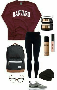 35 best school outfit ideas for teen girls for this winter Lazy Outfits girls Ideas Outfit School teen Winter Comfy School Outfits, Cute College Outfits, Winter Outfits For School, Teenage Outfits, Lazy Outfits, Teen Fashion Outfits, Fashion Mode, Sporty Outfits, Cute Casual Outfits