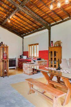 Cozinha rústica   ... Sweet Home, Adobe House, Hygge Home, Bohemian House, Indian Homes, Small House Design, Home Design Plans, Home Decor Kitchen, Traditional House