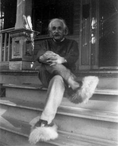 Einstein en pantuflas