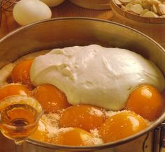 Original and Authentic German Recipes. Find traditional and classic recipes, cakes and cookies, desserts and soups, bread and German specialties. Creamy Peach Cake