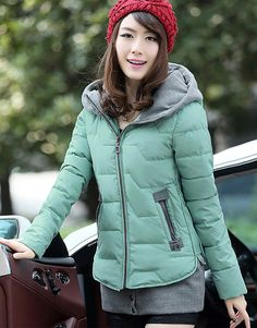 Women's Slim Fit Winter Coat Short Jacket with Removable Hem - Winter Clothes Winter Outfits Women, Winter Clothes, Winter Coat, Winter Jackets, Slim, Fitness, Color, Black, Fashion