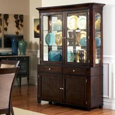 Steve Silver Marseille China Cabinet - Dark Cherry - SSC1507