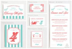 Vintage Circus Wedding Invitation & RSVP Card by LittleArrowStudio