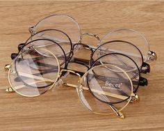 Nueva Moda Vintage círculo redondo marco de las lentes miopía Gafas óptico Rx condiciones | Belleza y salud, Cuidado de la vista, Marcos para gafas | eBay!