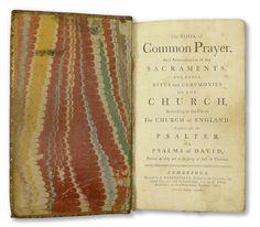 John Baskerville's setting of The Book of Common Prayer for the Cambridge University Press, 1762.
