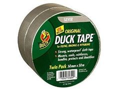 Best Buy Duck Original Cloth Tape - Silver - 50mm x50m (Twin Pack) Duck http://www.amazon.co.uk/dp/B00V2H4QXW/ref=cm_sw_r_pi_dp_tC8lwb0C5G36N