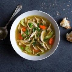 Classic Chicken Soup - EatingWell.com sub in Dreamfields pasta for egg noodles