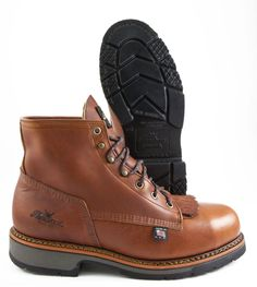 Carolina Brown Leather Steel Toe Waterproof Logger Style Work Boot ...